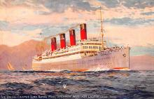 shp005003 - Cunard Line Ship Postcard Old Vintage Steamer Antique Post Card