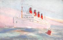 shp005005 - Cunard Line Ship Postcard Old Vintage Steamer Antique Post Card