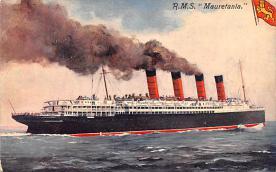shp005013 - Cunard Line Ship Postcard Old Vintage Steamer Antique Post Card