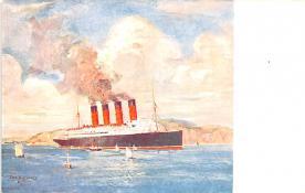 shp005049 - Cunard Line Ship Postcard Old Vintage Steamer Antique Post Card
