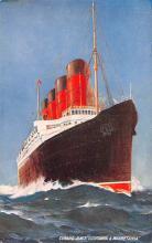 shp005051 - Cunard Line Ship Postcard Old Vintage Steamer Antique Post Card