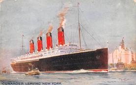 shp005055 - Cunard Line Ship Postcard Old Vintage Steamer Antique Post Card