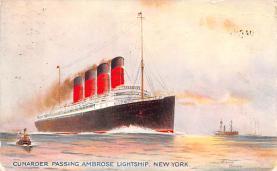 shp005059 - Cunard Line Ship Postcard Old Vintage Steamer Antique Post Card