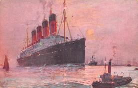 shp005061 - Cunard Line Ship Postcard Old Vintage Steamer Antique Post Card