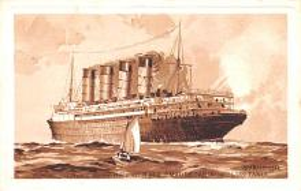 shp005065 - Cunard Line Ship Postcard Old Vintage Steamer Antique Post Card
