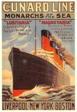 shp005085 - Cunard Line Ship Postcard Old Vintage Steamer Antique Post Card