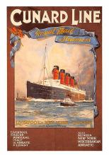 shp005087 - Cunard Line Ship Postcard Old Vintage Steamer Antique Post Card