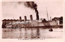 shp006007 - Cunard Line Ship Postcard Old Vintage Steamer Antique Post Card