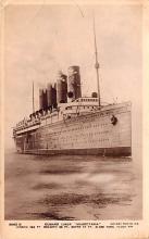 shp006009 - Cunard Line Ship Postcard Old Vintage Steamer Antique Post Card