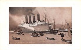 shp006013 - Cunard Line Ship Postcard Old Vintage Steamer Antique Post Card