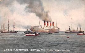 shp006015 - Cunard Line Ship Postcard Old Vintage Steamer Antique Post Card