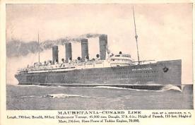 shp006017 - Cunard Line Ship Postcard Old Vintage Steamer Antique Post Card