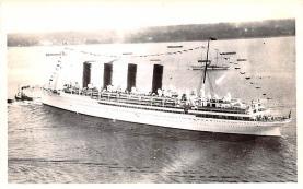 shp006019 - Cunard Line Ship Postcard Old Vintage Steamer Antique Post Card