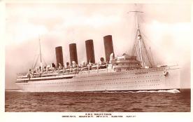 shp006021 - Cunard Line Ship Postcard Old Vintage Steamer Antique Post Card