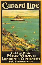 shp006025 - Cunard Line Ship Postcard Old Vintage Steamer Antique Post Card