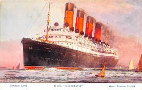 shp006027 - Cunard Line Ship Postcard Old Vintage Steamer Antique Post Card