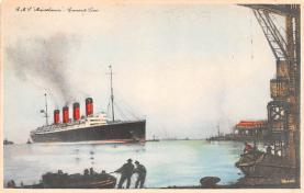 shp006029 - Cunard Line Ship Postcard Old Vintage Steamer Antique Post Card
