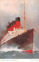 shp006033 - Cunard Line Ship Postcard Old Vintage Steamer Antique Post Card