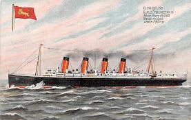 shp006035 - Cunard Line Ship Postcard Old Vintage Steamer Antique Post Card