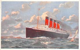 shp006037 - Cunard Line Ship Postcard Old Vintage Steamer Antique Post Card