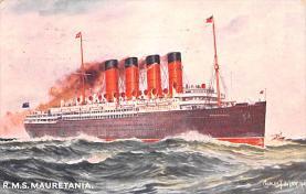 shp006039 - Cunard Line Ship Postcard Old Vintage Steamer Antique Post Card