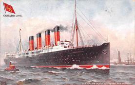 shp006043 - Cunard Line Ship Postcard Old Vintage Steamer Antique Post Card