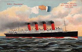 shp006047 - Cunard Line Ship Postcard Old Vintage Steamer Antique Post Card