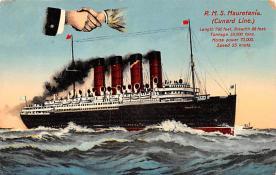 shp006049 - Cunard Line Ship Postcard Old Vintage Steamer Antique Post Card
