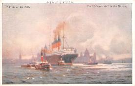 shp006051 - Cunard Line Ship Postcard Old Vintage Steamer Antique Post Card