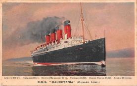 shp006055 - Cunard Line Ship Postcard Old Vintage Steamer Antique Post Card