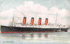 shp006059 - Cunard Line Ship Postcard Old Vintage Steamer Antique Post Card