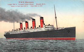 shp006069 - Cunard Line Ship Postcard Old Vintage Steamer Antique Post Card