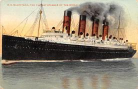 shp006077 - Cunard Line Ship Postcard Old Vintage Steamer Antique Post Card