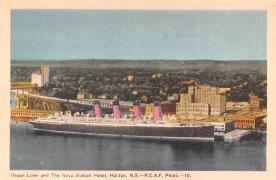 shp006079 - Cunard Line Ship Postcard Old Vintage Steamer Antique Post Card