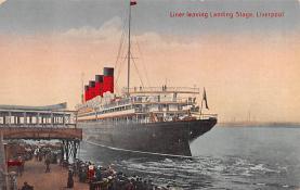 shp006081 - Cunard Line Ship Postcard Old Vintage Steamer Antique Post Card