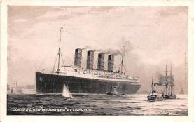 shp006083 - Cunard Line Ship Postcard Old Vintage Steamer Antique Post Card