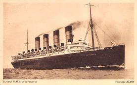 shp006091 - Cunard Line Ship Postcard Old Vintage Steamer Antique Post Card