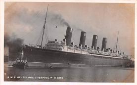 shp006095 - Cunard Line Ship Postcard Old Vintage Steamer Antique Post Card
