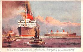 shp006099 - Cunard Line Ship Postcard Old Vintage Steamer Antique Post Card