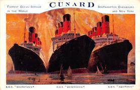 shp006101 - Cunard Line Ship Postcard Old Vintage Steamer Antique Post Card