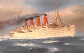 shp006103 - Cunard Line Ship Postcard Old Vintage Steamer Antique Post Card
