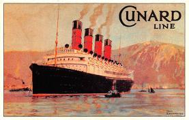 shp006105 - Cunard Line Ship Postcard Old Vintage Steamer Antique Post Card