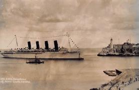 shp006107 - Cunard Line Ship Postcard Old Vintage Steamer Antique Post Card