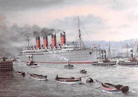 shp006111 - Cunard Line Ship Postcard Old Vintage Steamer Antique Post Card