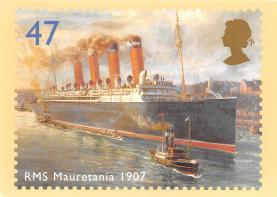 shp006113 - Cunard Line Ship Postcard Old Vintage Steamer Antique Post Card