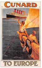 shp006115 - Cunard Line Ship Postcard Old Vintage Steamer Antique Post Card