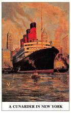 shp006117 - Cunard Line Ship Postcard Old Vintage Steamer Antique Post Card