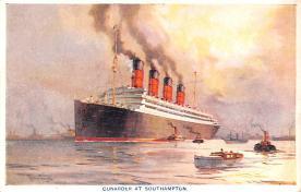 shp007051 - Cunard Line Ship Postcard Old Vintage Steamer Antique Post Card