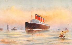 shp008001 - Cunard Line Ship Postcard Old Vintage Steamer Antique Post Card