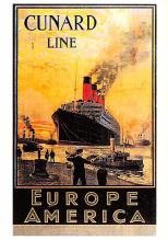 shp008003 - Cunard Line Ship Postcard Old Vintage Steamer Antique Post Card